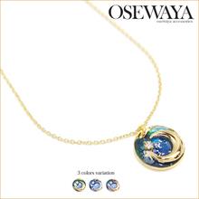 costum jewellery gold neck lace with imitation gemstone
