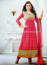 Neck Designs For Salwar Suits Anarkali Designer Salwar Kameez Bollywoo...R6908