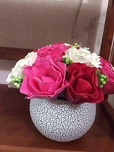 Vietnam fake thin handmade clay rose peony bell flower for home garden office decoration export import