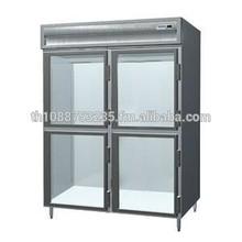 Delfield SSDFL2-GH 49.92 Cu. ft. Glass Half Door Dual Temperature Reach in Refrigerator Freezer - Specification Line