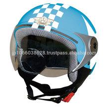 Star motif and check pattern kids bike helmet from JAPAN