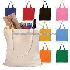 plain cotton canvas shopping tote bags