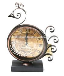 Bird Designed Antique Style Table Clock