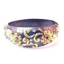 Turkish Ottoman Jewelry Silver Bracelet From Istanbul Turkey Grand Bazaar