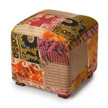 Footstool Living Room Furniture Stools & Ottomans Vintage Kantha Storage Ottoman