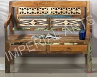 Home Furniture, Antique Wood Banch with Drawer