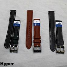 Hyper 18mm Designed Stitched Genuine Leather Watch Strap