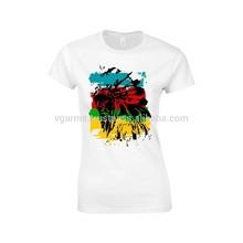 fashionable USA printed t shirts wholesale ladies