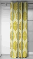 indian Curtains panels in fabric Nervures, Home Decor, Drapery