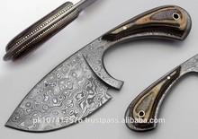 HT CUSTOM HANDMADE DAMASCUS SKINNER KNIFE