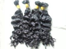100% raw and soft wavy double drawn virgin remy hair