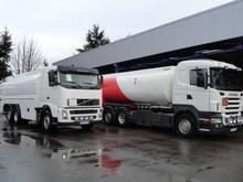 Tanker trucks, Volvo and Scania