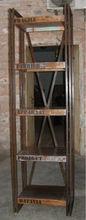 Reclaimed Wood, Iron Bookshelf