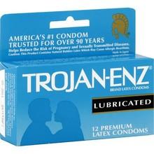 Trojan-Enz Condoms, Premium Latex, Lubricated - 12 condoms