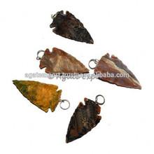 Polished Agate Arrowheads Pendants
