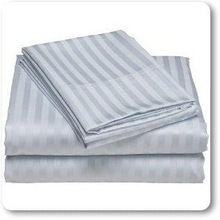 Hotel Bed Sheet Manufacturers and Wholesale 83 Yarn 180x280cm Striped Cotton Satin