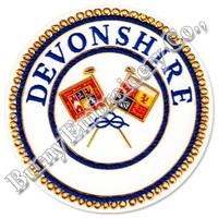 Masonic Regalia Devonshire Hands Embroidery Blazer Badge