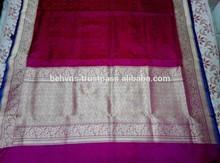 High Quality Pure Silk Indian Hand Loom Woven Sarees , SARI, SHARI