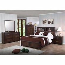 Edison 5 Piece Bedroom Set - Storage bed, Java Oak, King by New Spec