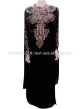 Wholesale Islamic Dress Fancy Kaftan Jilbab New Design 2015 K8908