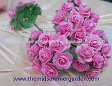 Handmade Paper Rose Flower and scrapbooking flower idea.