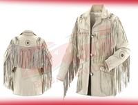Men's Fringed / Beaded Western Leather Jacket