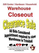 Liquidation, Closeout Sale