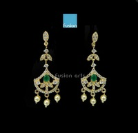 Earrings With Stone, CZ, American Diamond Jhumkas Danglers Drops Designer Ethnic