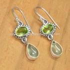 Peridot & Phrenite new model earrings, silver jewellery fashion earrings ES122