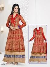 Kimora Designer Heavy Karachi Embroidered Red Bridal Wear Anrkali salwar Kameez