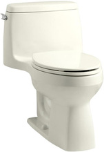 KH K-3810-96 Santa Rosa 1-Piece Compact Elongated 1.28 Gpf Toilet Biscuit