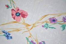 indian Vintage Floral Sheet - Blue Pink & Purple Flowers on a Vine - Girls Bedding - Floral Bedding - Shabby Chic Bedding -