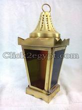 BZ21 Classic Egyptian Square RAMADAN Brass Lantern / Candle Holder / Lamp