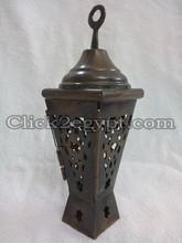 BR344 Antique Style Mini Egyptian RAMADAN Brass Islamic Lantern / Candle Holder