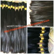 Natural black straight hair/ Vietnam raw remy virgin human hair bulk 2015