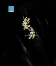 New Design Ladies Finger Ring Rhine Stones Long Finger Rings