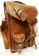 real goat leather messenger bag/cross body bags for men