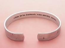 Mens Secret Message Cuff Bracelet, Rustic Finish