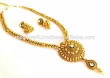 Wholesale Indian Ethnic bridal jewellery with mang tika-Imitation jewellery-One gram gold jewellery-Bollywood fashion jewelry