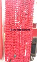 Artificial Decorative Marigold Flower Garland Red Pink