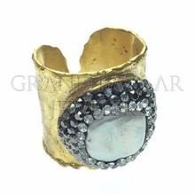 Fashion Druzy Wholesale Ring Jewellery From Istanbul Turkey Turkish