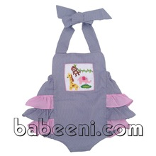 Animals smocked bubbles for little girl - BB298
