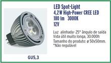 High-Power CREE LED - MR16 4,2W 12V 180lm 3.000K GU5,3