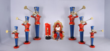 toy soldiers with trumpet 4/6 and 9ft