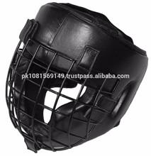 Steel Mask BOXING HEAD GUARD, REAL LEATHER HEAD GUARD, NEW DESIGN HEAD GUARD