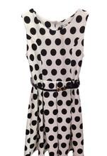 Casual short dress black / white
