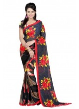 Georgette Saree varieties with colors marvellous