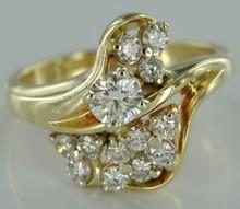 14k Yellow Gold 1.10 ctw VS1 - SI1 F Diamonds Women's Ring