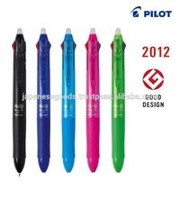 Japanese best-selling erasable rubber grip plastic ball pen