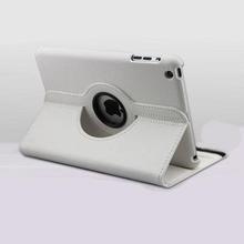 White Color 360 Leather Case for iPad Mini